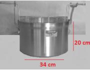 Φριτούρα αλουμινίου ΜΑΤ Ø 34x20 cm χωρητικότητα 18,1 lt