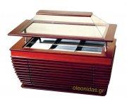 Ψυχώμενη Βιτρίνα σιροπιαστών διαστ.165x79x147 cm