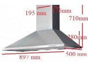 Απορροφητήρας επαγγελματικής κουζίνας AIRLINE 90 INOX 897 mm