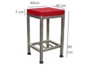 Πάγκος κοπής με πλάκα πολυαιθυλενίου  πάχος 7 cm Διαστ. 40Χ50Χ90 ύψος.-