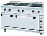 Κουζίνα ηλεκτρική 6 εστιών με φούρνο διαστ.126x90x85 cm