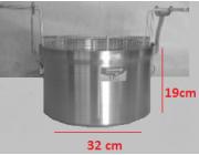 Φριτούρα αλουμινίου ΜΑΤ Ø 32x19 cm χωρητικότητα 15,3 lt
