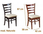 Καρέκλα ξύλινη με κάθισμα από PVC Naturale