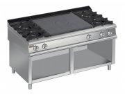 Κουζίνα αερίου 4 εστιών και πλάκες μαγειρικής-ψησίματος χωρίς φούρνο