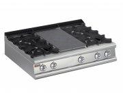 Επιτραπέζια κουζίνα αερίου 4 εστιών και πλάκα ψησίματος - μαγειρικής