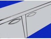 Πάγκος ανοξείδωτος με ανοιγόμενες πόρτες  διαστ. 140x60 ή 70x85 cm ύψος