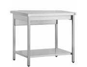 Λυόμενο τραπέζι εργασίας με ράφι  διαστ.140x70x87 cm