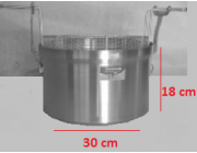 Φριτούρα αλουμινίου ΜΑΤ Ø 30x18 cm χωρητικότητα 12,7 lt