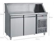 Ψυγείο Bar με 2 πόρτες συντήρηση διαστ.155x70x118 cm MM 155