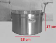 Φριτούρα αλουμινίου  ΜΑΤ Ø 28x17 cm 10,5 lt