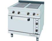 Ηλεκτρική κουζίνα 4 εστιών με φούρνο cm 85x90x85