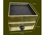 Χόβολη αερίου με επένδυση Μπρούτζο διαστ. 38x40x30 cm