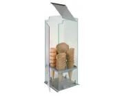 Βιτρίνα για χωνάκια παγωτού 5 θέσεων διαστ. 20x20x50 cm