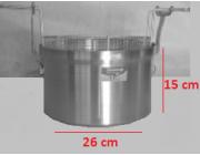 Φριτούρα αλουμινίου ΜΑΤ Ø 26x15 cm  8 lt