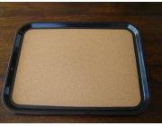 Δίσκος σερβιρίσματος με φελό διαστ.45,5x34,5 cm