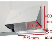 Απορροφητήρας επαγγελματικής κουζίνας INTER 599 mm