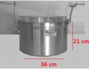Φριτούρα αλουμινίου  ΜΑΤ Ø 36x21 cm 21,4 lt