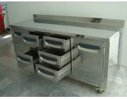 Ψυγείο πάγκος κατασκευή με πόρτες και συρτάρια PRIOLINOX Italy